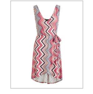 🆕 Chevron Style Sleeveless Wrap Dress